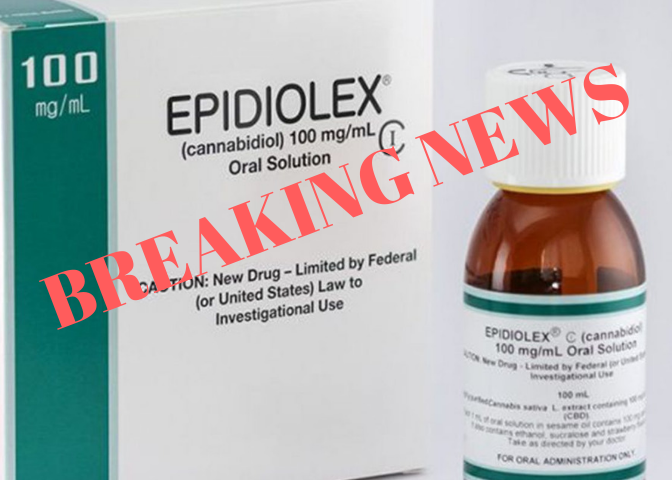 BREAKING NEWS: FDA Approves Epidiolex